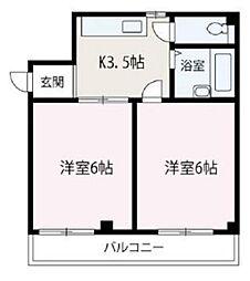 埼玉県富士見市針ヶ谷1丁目の賃貸マンションの間取り