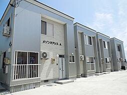秋田県大仙市富士見町の賃貸アパートの外観