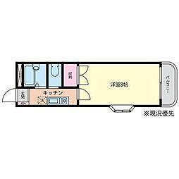 シャンクレール湘南台[2階]の間取り