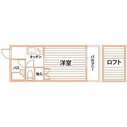 コンドミニアム折尾駅前[4階]の間取り