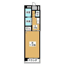 シェーン八事山[2階]の間取り