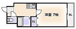大阪府大阪市浪速区下寺1丁目の賃貸マンションの間取り