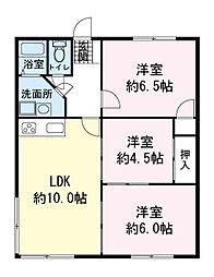 黄瀬川リバーサイドマンション[0101号室]の間取り