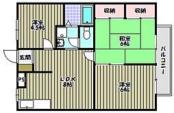 アルベロ福田[1階]の間取り