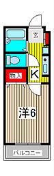 宮田ハイツ[2階]の間取り