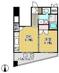 SUNBRIGHT[6階]の間取り
