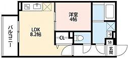 リトレ徳庵[3階]の間取り