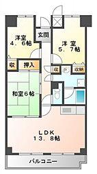 プランドール桃山台[3階]の間取り