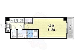 阪急伊丹線 稲野駅 徒歩5分の賃貸アパート 1階1Kの間取り