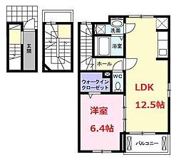 ルーチェ開成(LuceKaisei) 3階1LDKの間取り