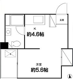 世田谷代田サンライズマンション[5階]の間取り