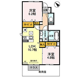 サニーコート加佐B棟[1階]の間取り