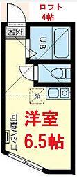 JR京浜東北・根岸線 桜木町駅 徒歩10分の賃貸アパート 1階ワンルームの間取り