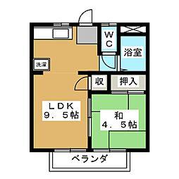 セピアコートA[2階]の間取り