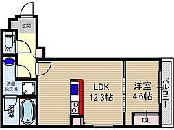 山崎マンション15[3階]の間取り