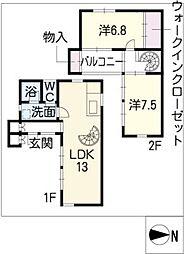 [タウンハウス] 愛知県岩倉市八剱町大塚 の賃貸【/】の間取り