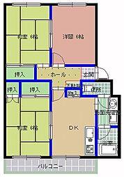 サンスイートマンション[206号室]の間取り