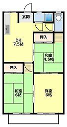 愛知県豊田市広久手町4丁目の賃貸アパートの間取り