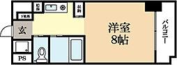 京都府宇治市広野町西裏の賃貸マンションの間取り