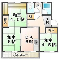 南多聞住宅[2階]の間取り