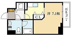 近鉄京都線 上鳥羽口駅 徒歩3分の賃貸マンション 2階1Kの間取り