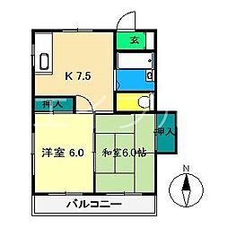 エスポワールKNA[2階]の間取り