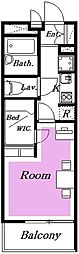 千葉県柏市あけぼの2丁目の賃貸マンションの間取り