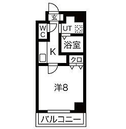 愛知県名古屋市北区杉栄町4丁目の賃貸マンションの間取り