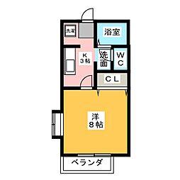 フラワーハイツIII[1階]の間取り