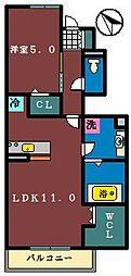 千葉県八千代市八千代台北17丁目の賃貸アパートの間取り