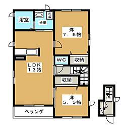 L N棟[2階]の間取り