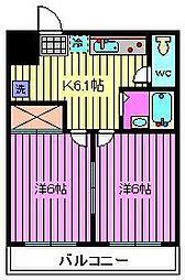 東陽ハイツ[2階]の間取り