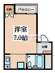 メゾン朝日小阪[2階]の間取り