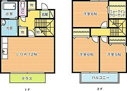 プレミールメゾン A棟[1号室]の間取り