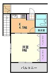 第5三井ビル[201号室]の間取り