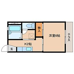 静岡県静岡市清水区春日の賃貸アパートの間取り