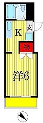 千葉県船橋市湊町2丁目の賃貸アパートの間取り