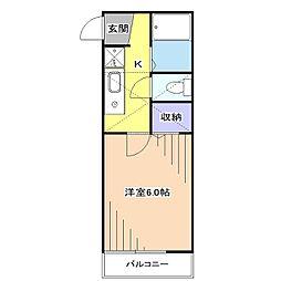ローレル東大和[2階]の間取り