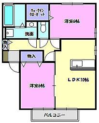 リビングタウン陽光台C[1階]の間取り