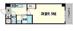セブンレジデンスニッポンバシ 8階1Kの間取り