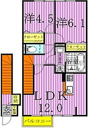 クライノモー2[201号室]の間取り