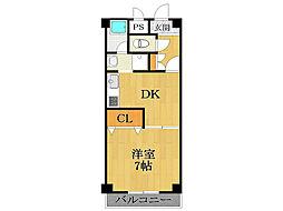 セレナ東甲子園[2階]の間取り