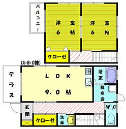 [タウンハウス] 福岡県古賀市薦野 の賃貸【/】の間取り