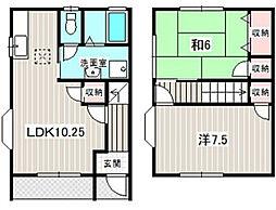 [タウンハウス] 静岡県浜松市西区大平台3丁目 の賃貸【静岡県 / 浜松市西区】の間取り