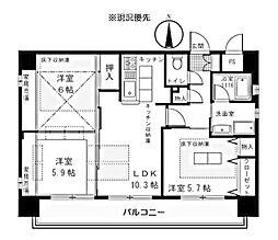 プリーマ仲町台[4階]の間取り