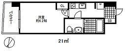 セレニテ三宮プリエ 10階1Kの間取り