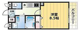 エムズコート小阪[4階]の間取り