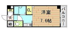 ウイングコート東大阪[2階]の間取り