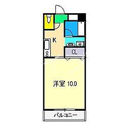 メゾンロンドゥ・トワ[1階]の間取り
