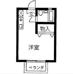 フィールド中田[203号室]の間取り